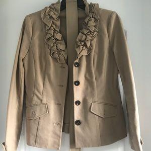 Saks Fifth Avenue Tan Beige Khaki Jacket with Belt